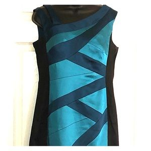 Jack Turquoise and Black Dress